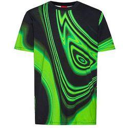 T-shirt en coton mercerisé à col rond et imprimé en relief - HUGO - Modalova