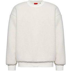 Sweat Oversized Fit en maille polaire peluche avec étiquette logo - HUGO - Modalova