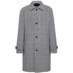 Manteau Regular Fit en tissu stretch à motif pied-de-poule - BOSS X Russell Athletic - Modalova