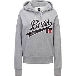 Sweat à capuche Relaxed Fit avec logo brodé de la collection - BOSS X Russell Athletic - Modalova