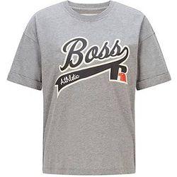 T-shirt Relaxed Fit en coton biologique avec logo imprimé - BOSS X Russell Athletic - Modalova