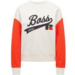 Sweat en coton biologique avec broderie du logo de la collection - BOSS X Russell Athletic - Modalova