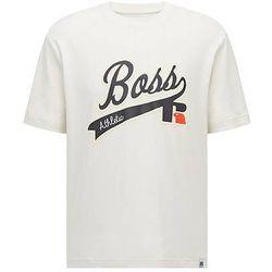 T-shirt Relaxed Fit en coton Pima avec logo exclusif - BOSS X Russell Athletic - Modalova