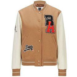 Veste style Varsity avec manches en cuir et logo exclusif - BOSS X Russell Athletic - Modalova