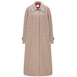 Manteau long Relaxed Fit en tissu à motif pied-de-poule - BOSS X Russell Athletic - Modalova