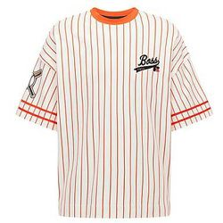 T-shirt Relaxed Fit style base-ball avec logo exclusif - BOSS X Russell Athletic - Modalova
