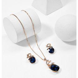 Collier de gemme en spirale & Boucles d'oreilles - SHEIN - Modalova