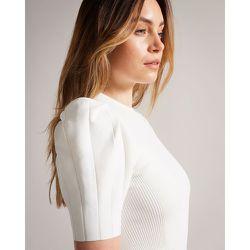Puff Sleeve Dress With Engineered Skirt - Ted Baker - Modalova