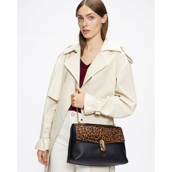 Leopard Print Twist Lock Shoulder Bag - Ted Baker - Modalova