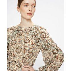 Frilled Printed Dress - Ted Baker - Modalova