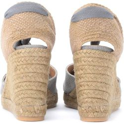 Chiara wedge sandal in gray canvas and fabric - Castañer - Modalova