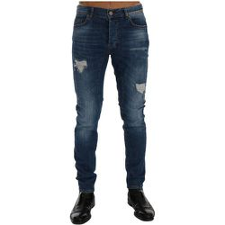 Torn Dundee Slim Fit Jeans , , Taille: W40 - Frankie Morello - Modalova