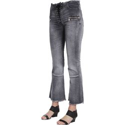 Laceup Flare Cropped Jeans - Unravel Project - Modalova
