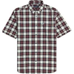 Authentic Button Down Short Sleeve Check Shirt - Fred Perry - Modalova