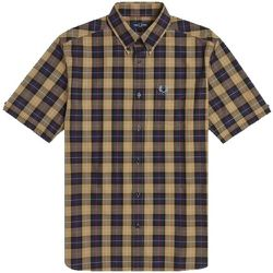 Authentic Button Down Short Sleeve Check Shirt , , Taille: XL - Fred Perry - Modalova