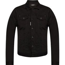 Denim jacket with logo , , Taille: 50 IT - Dsquared2 - Modalova