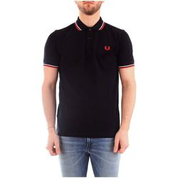 M3600 Polo Men Navy / RED , , Taille: L - Fred Perry - Modalova