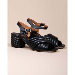 Sandales à talons en cuir matelassé 55 - TORY BURCH - Modalova