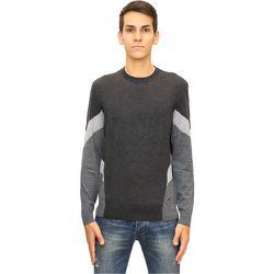 Pull en marqueterie de bloc de couleur de laine , , Taille: XL - Emporio Armani - Modalova