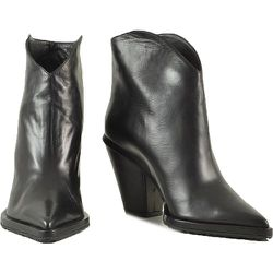 Leather Cowboy Booties - Aldo Castagna - Modalova