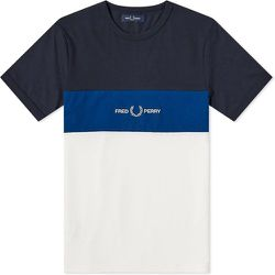 Authentic Embroidered Logo Color Block T-shirt , , Taille: M - Fred Perry - Modalova