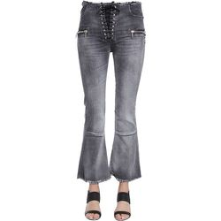 Laceup Flare Cropped Jeans , , Taille: W26 - Unravel Project - Modalova