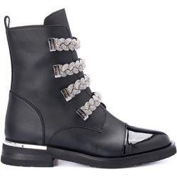 Ankle boot with applications - Baldinini - Modalova
