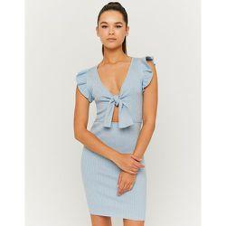 Robe Pull Courte Sans Manches Bleue - Tw - Modalova