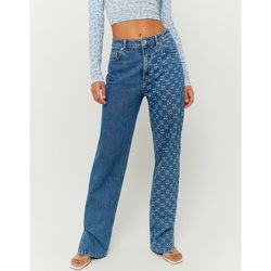Jean Droit Taille Haute Bleu - Tw - Modalova
