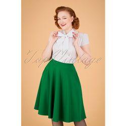 Sheila Swing Skirt Années 50 en Émeraude - vintage chic for topvintage - Modalova