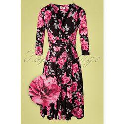 Caryl Floral Swing Dress Années 50 en et - vintage chic for topvintage - Modalova