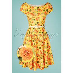 Arabella Floral Swing Dress Années 50 en - vintage chic for topvintage - Modalova