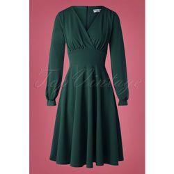 Helaine Swing Dress Années 50 en Sapin - vintage chic for topvintage - Modalova