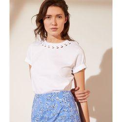 T-shirt col ajouré - Elise - XS - - Etam - Modalova