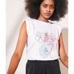 T-shirt épaulettes imprimé en coton - Julia - XS - - Etam - Modalova