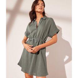 Robe chemise à nouer en gaze de coton - Lily - M - - Etam - Modalova
