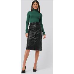 PU Button Midi Skirt - Black - Chloé B x NA-KD - Modalova