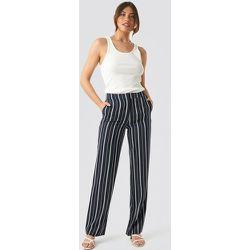 Wide Striped Suit Pants - Navy - NA-KD Classic - Modalova