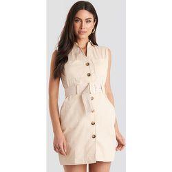 Belted Cargo Sleeveless Dress - Beige - NA-KD Classic - Modalova