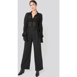Belted Flared Pants - Black - NA-KD Trend - Modalova