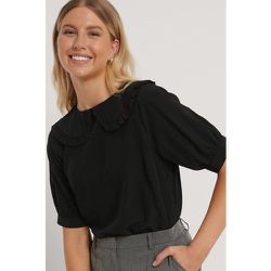 Big Collar Blouse - Black - NA-KD Boho - Modalova