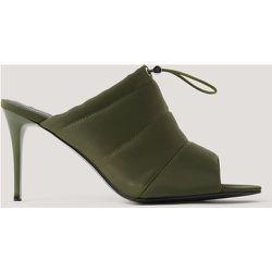 Chaussures Pointues À Talon, Bout Ouvert Et Cordon - Green - NA-KD Shoes - Modalova