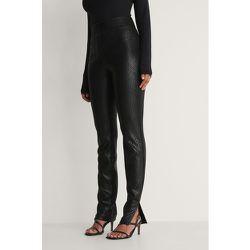 NA-KD Trend Front Zip Pants - Black - NA-KD Trend - Modalova