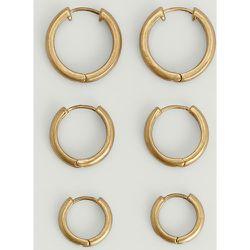 Lot de créoles dépolies - Gold - NA-KD Accessories - Modalova