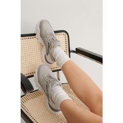 Baskets Détails Léopard - Grey - NA-KD Shoes - Modalova