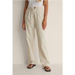 Pantalon De Costume En Lin - Beige - NA-KD Classic - Modalova