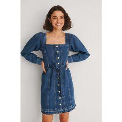 Robe En Jean À Manches Longues Et Ceinture - Blue - NA-KD Trend - Modalova