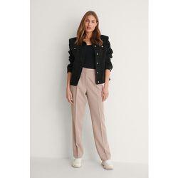 Pantalon De Costume Taille Mi-Haute - Pink - NA-KD Classic - Modalova