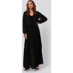 Multi Frill Flowy Dress - Black - NA-KD Boho - Modalova