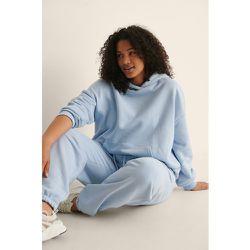 Biologique Sweatshirt À Capuche À Poche Oversize - Blue - NA-KD Trend - Modalova